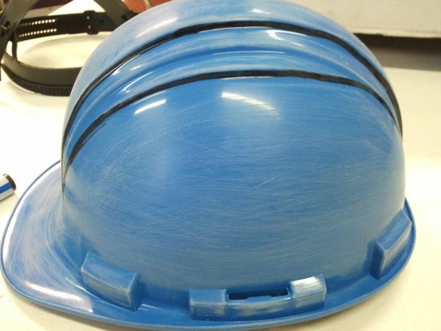 Helm, geschuurd