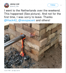 I went to the Netherlands over the weekend. This happened (See picture). And not for the first time, I was sorry to leave. Thanks @Hack42, @RevSpaceNL and others!
