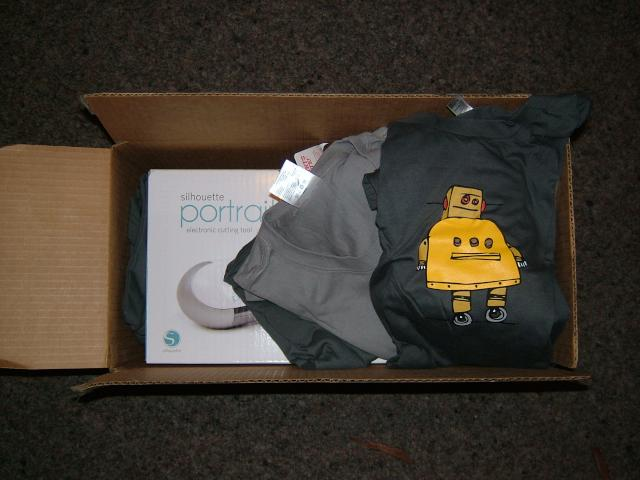 box of goodies from Instructables