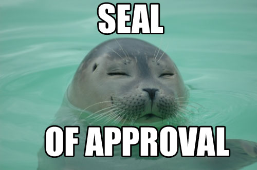 Bestand:Seal of Approval Picture.jpg