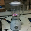 A project made for Hacktiviteit combining a LED fan and a broken blender.